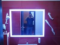 Átvilágított tükör, üveges munkáink