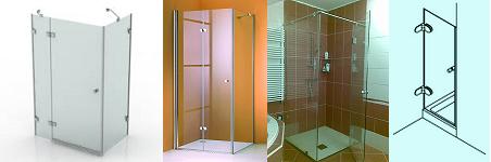 Zuhanykabin, zuhanyfal, zuhanyajtó