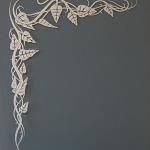 üveges munkáink, homokfújással dekorált ajtóüveg